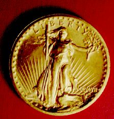 Liberty gold coin from the collection photo