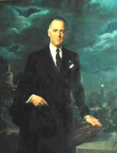 Gov. Lodge portrait painting photo