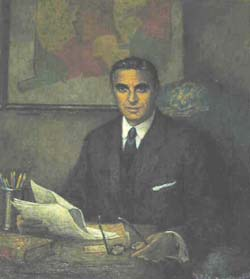 Gov. Ribicoff portrait painting photo