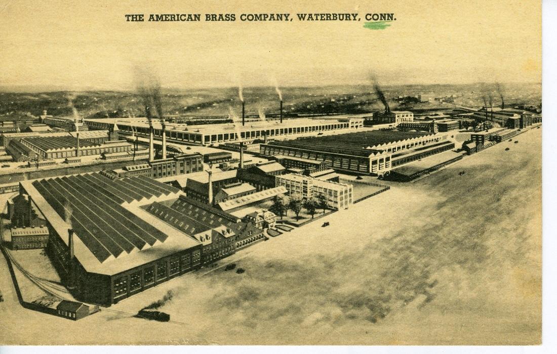 Postcards american brass mills torrington waterbury for The waterbury