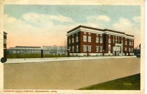 American Chain Company, Bridgeport Postcard Face
