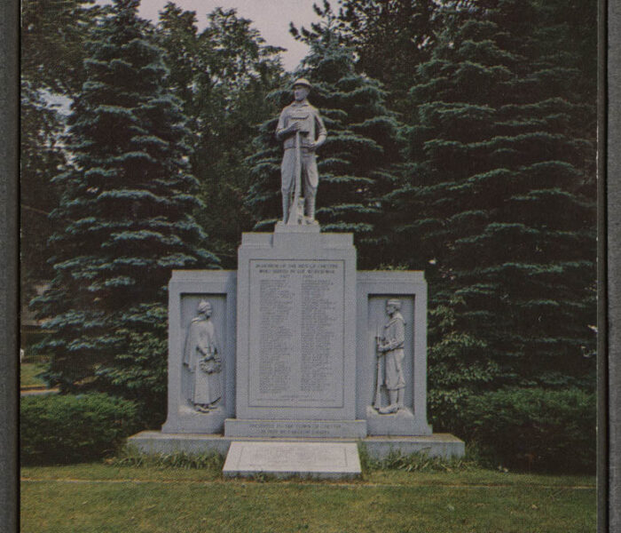 Postcard of World War Monument