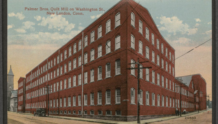 Postcard of Palmer Brothers, Quilt Mill on Washington Street