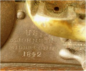 Model 1836 Pistol lock marking detail