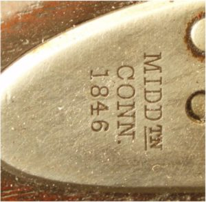 Aston Model 1842 lock marking detail