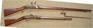 Shoulder Arms Top: U.S. Model 1819 Hall Rifle, Simeon North Contract of 1831