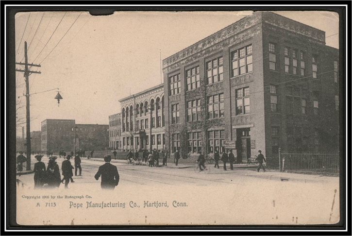 Postcard Of Pope Manufacturing Company
