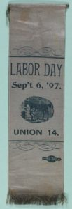 Labor Day 1897 Horseshoers Union # 47 Ribbon