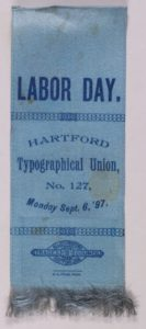 Labor Day 1897 Typographical Union # 127 Ribbon