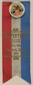 Labor Day 1891 Typographical Union # 127 Ribbon and Botton