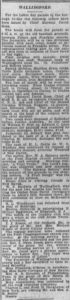 Newspaper clipping Morning Journal Courier