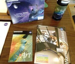 NASA literature about space.